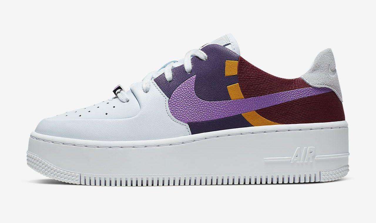 Nike Air Force 1 Sage White Purple