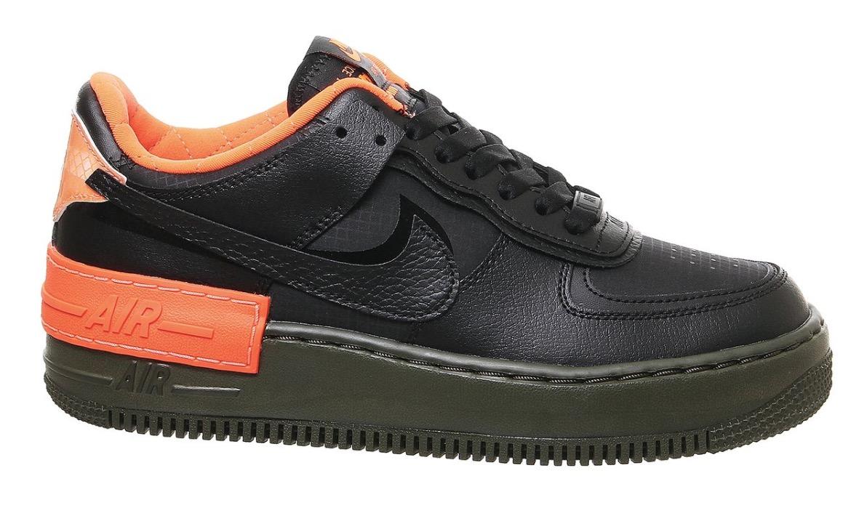 Nike Air Force 1 Shadow Black Orange