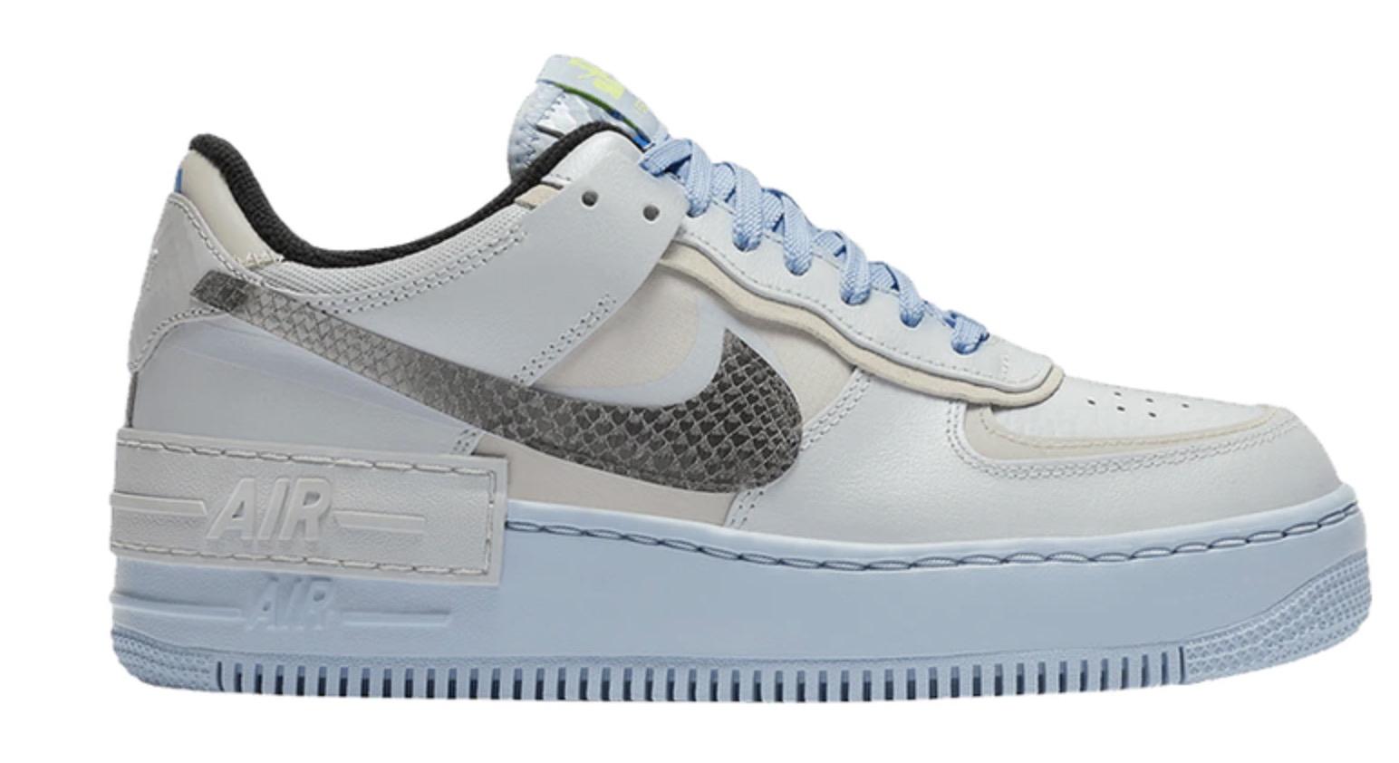 Nike Air Force 1 Shadow Pure Platinum Snakeskin Blue