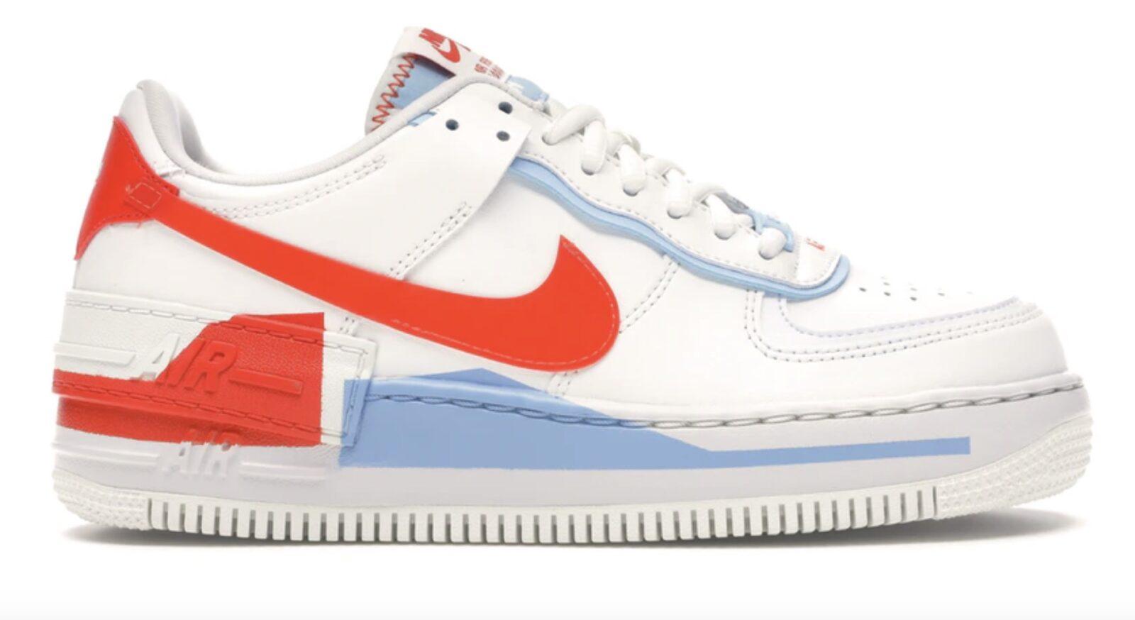 Nike Air Force 1 Shadow Summit White Team Orange