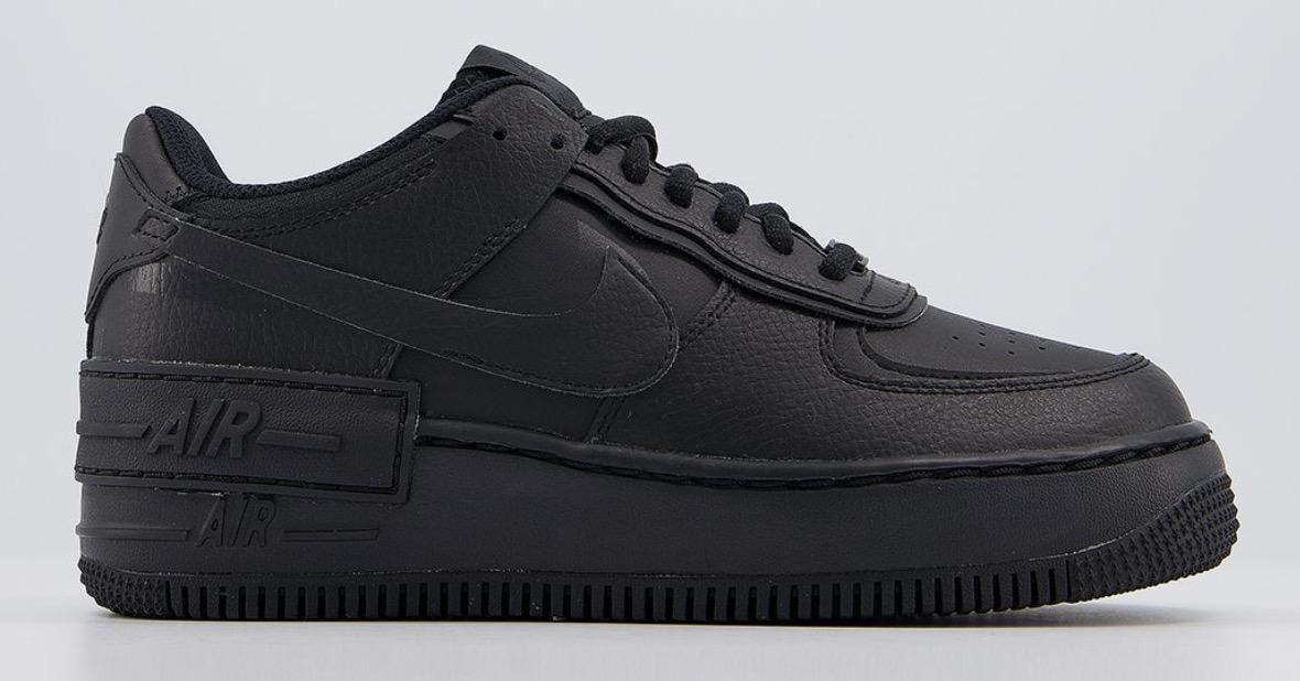 Nike Air Force 1 Shadow Triple Black