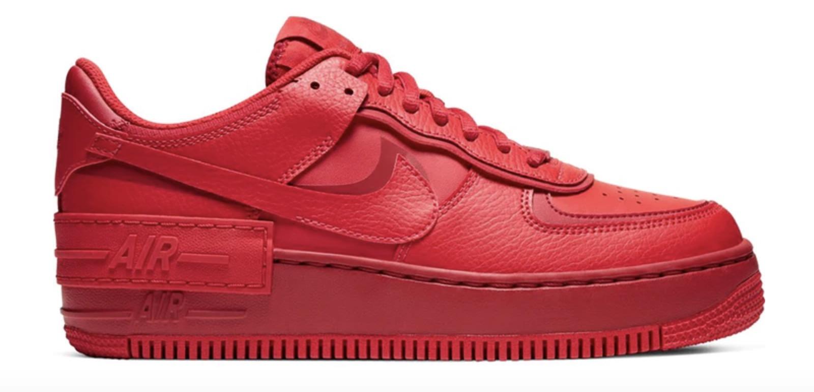 Nike Air Force 1 Shadow Triple Red