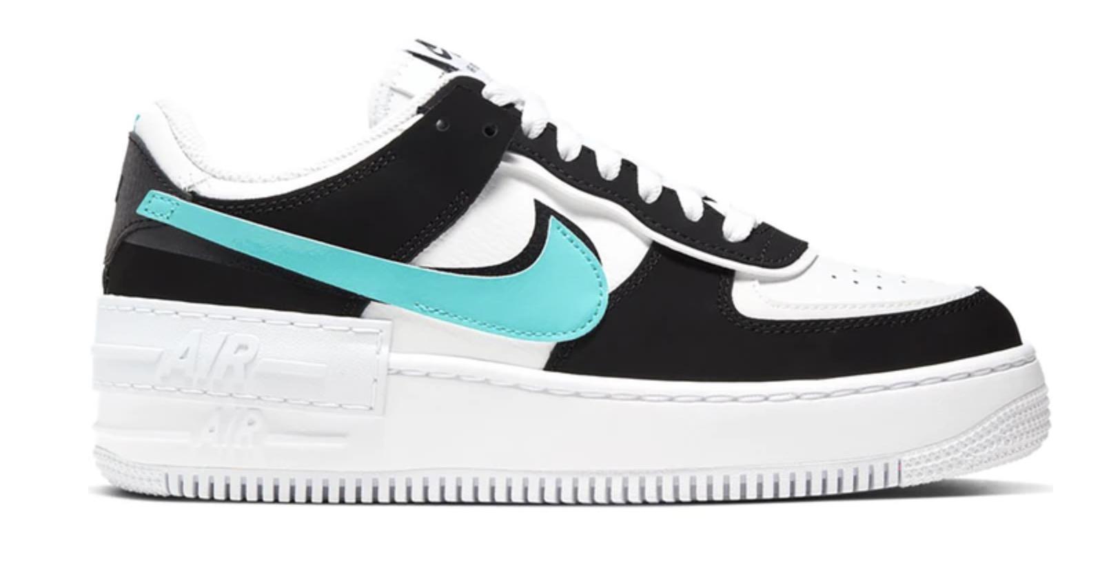 Nike Air Force 1 Shadow White Black Aurora