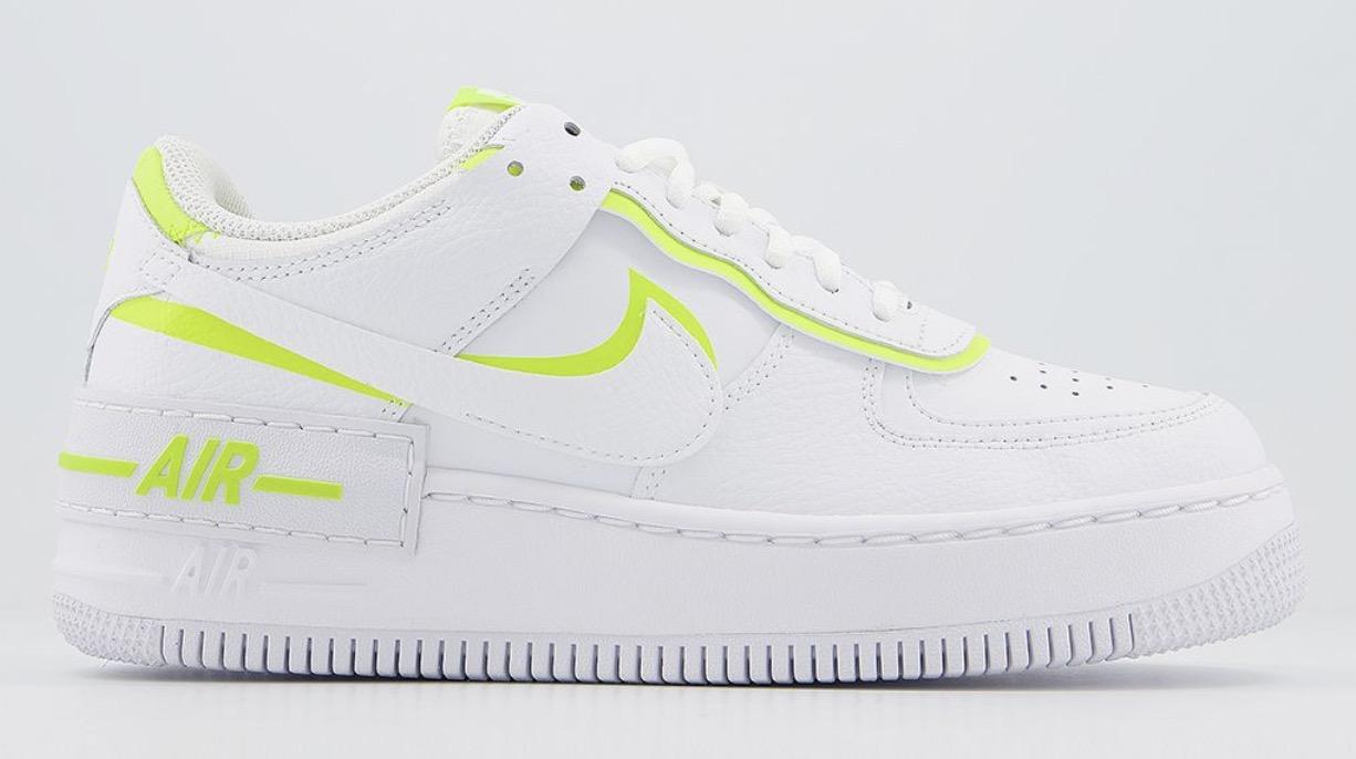 Nike Air Force 1 Shadow White Lemon Venom