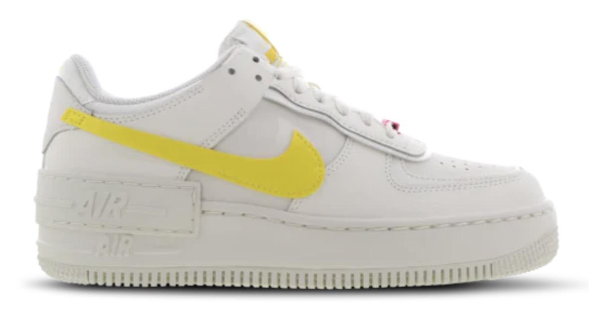Nike Air Force 1 Shadow White Opti Yellow