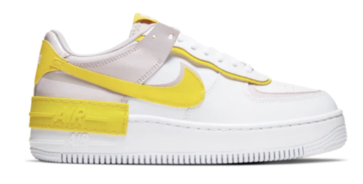 Nike Air Force 1 Shadow White Speed Yellow