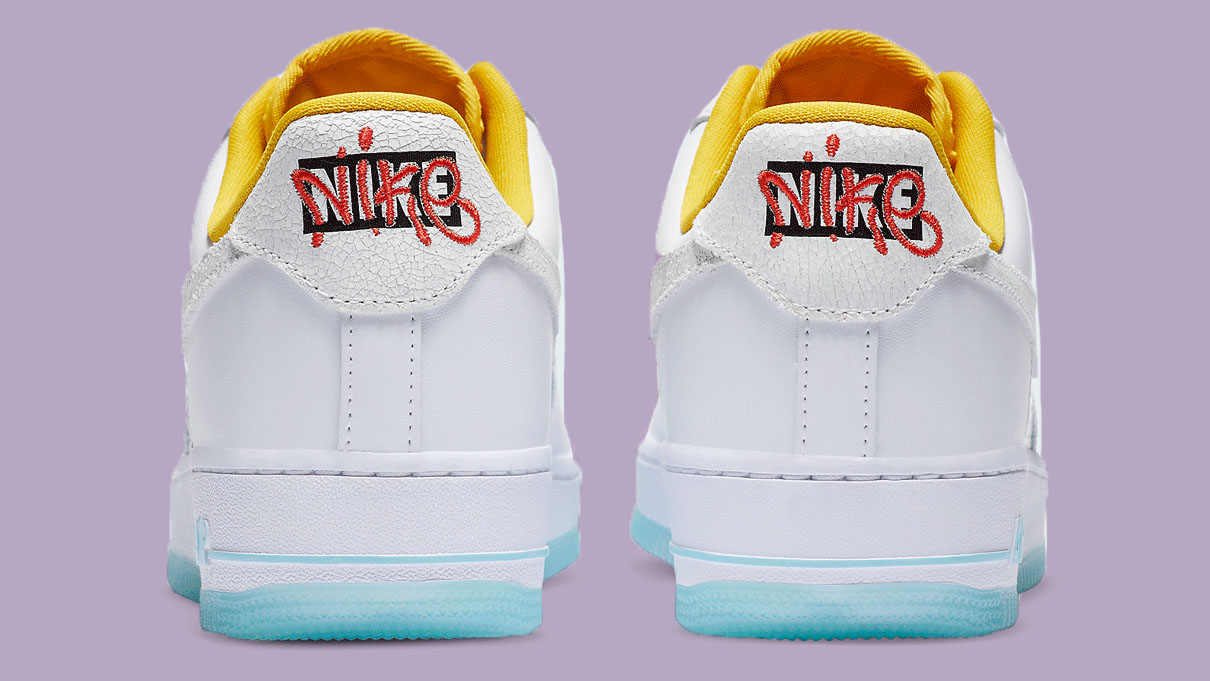 Nike Air Force 1 White Yellow copy