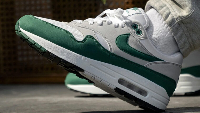Nike Air Max 1 Anniversary Hunter Green On Foot thumbnail image