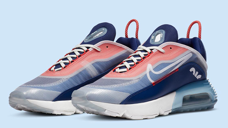 Nike Air Max 2090 USA Chile Red Royal Blue Front