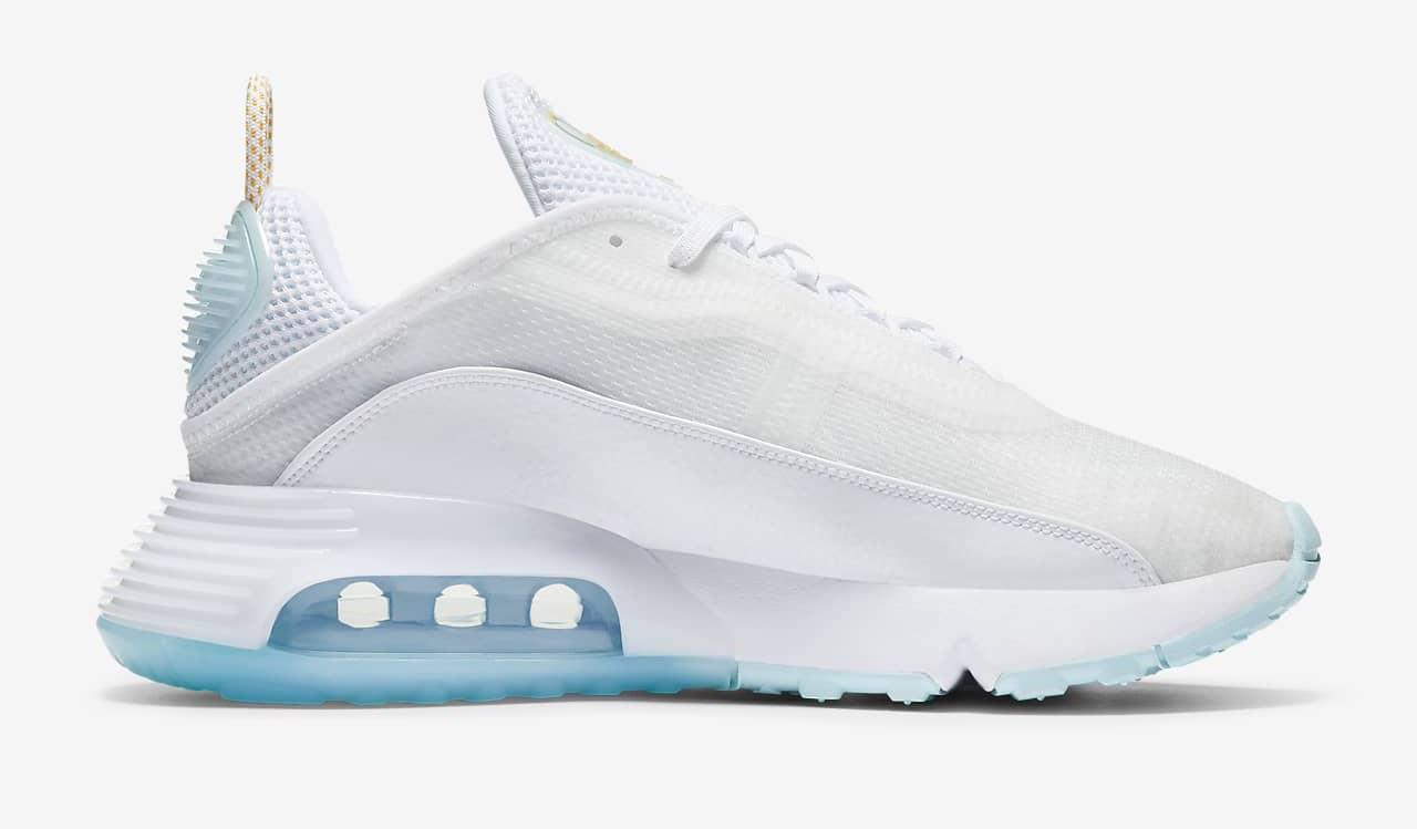 Nike Air Max 2090 White Glaicer Blue side