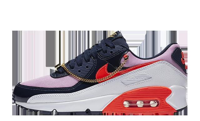 Nike Air Max 90 Cuban Link Navy Pink