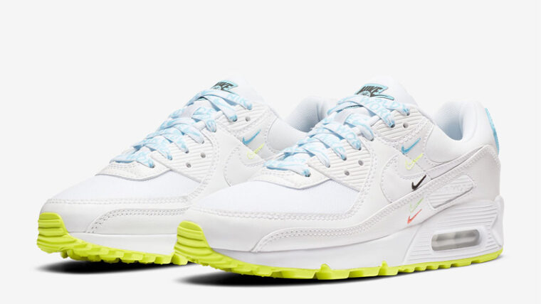 Nike Air Max 90 NS SE Worldwide White Blue Fury Front thumbnail image