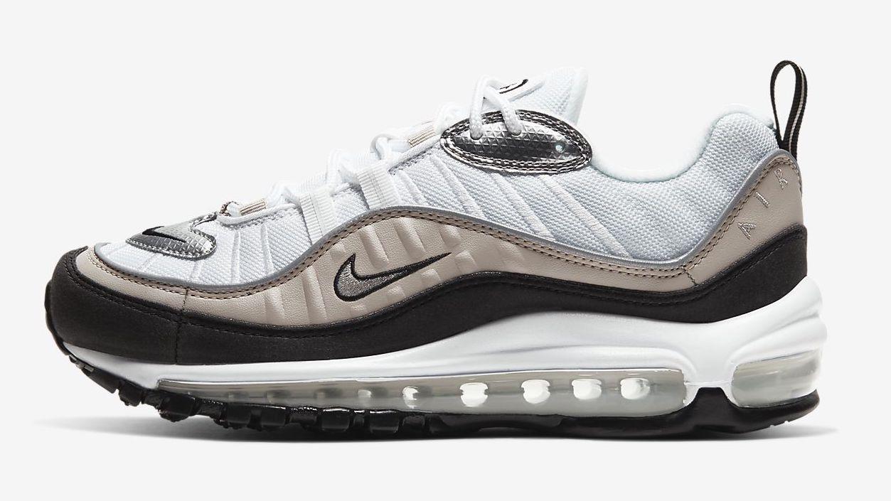 Nike Air Max 98 White Metallic Silver