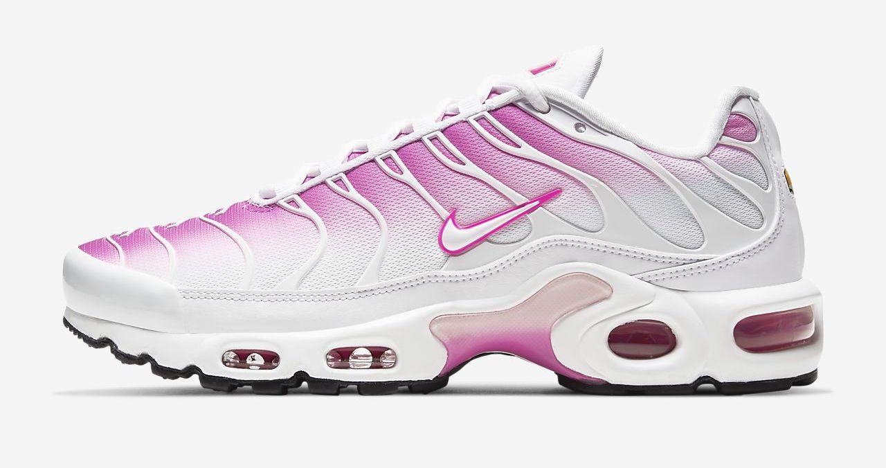 Nike Air Max Plus White Fire Pink