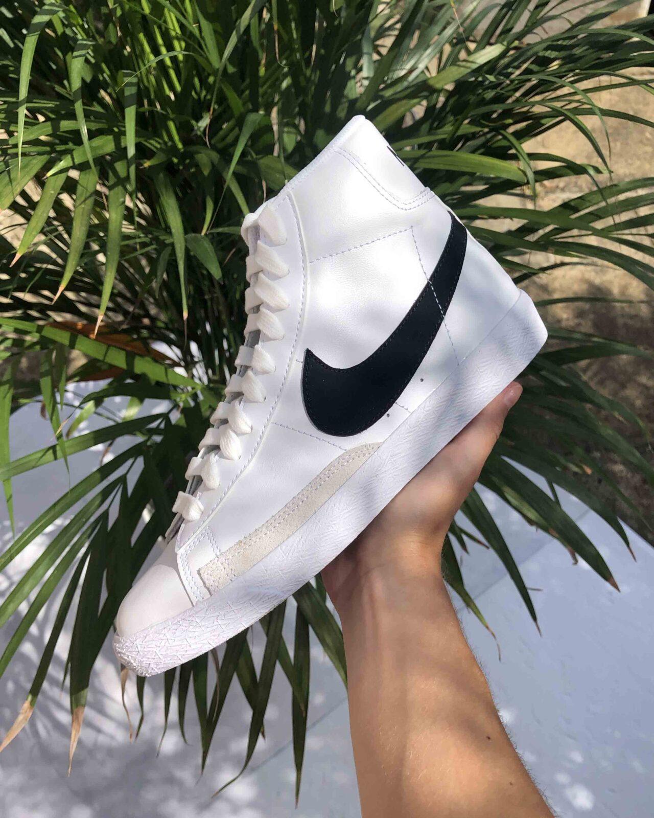 Nike Blazer Mid Vintage 77 White Black 2