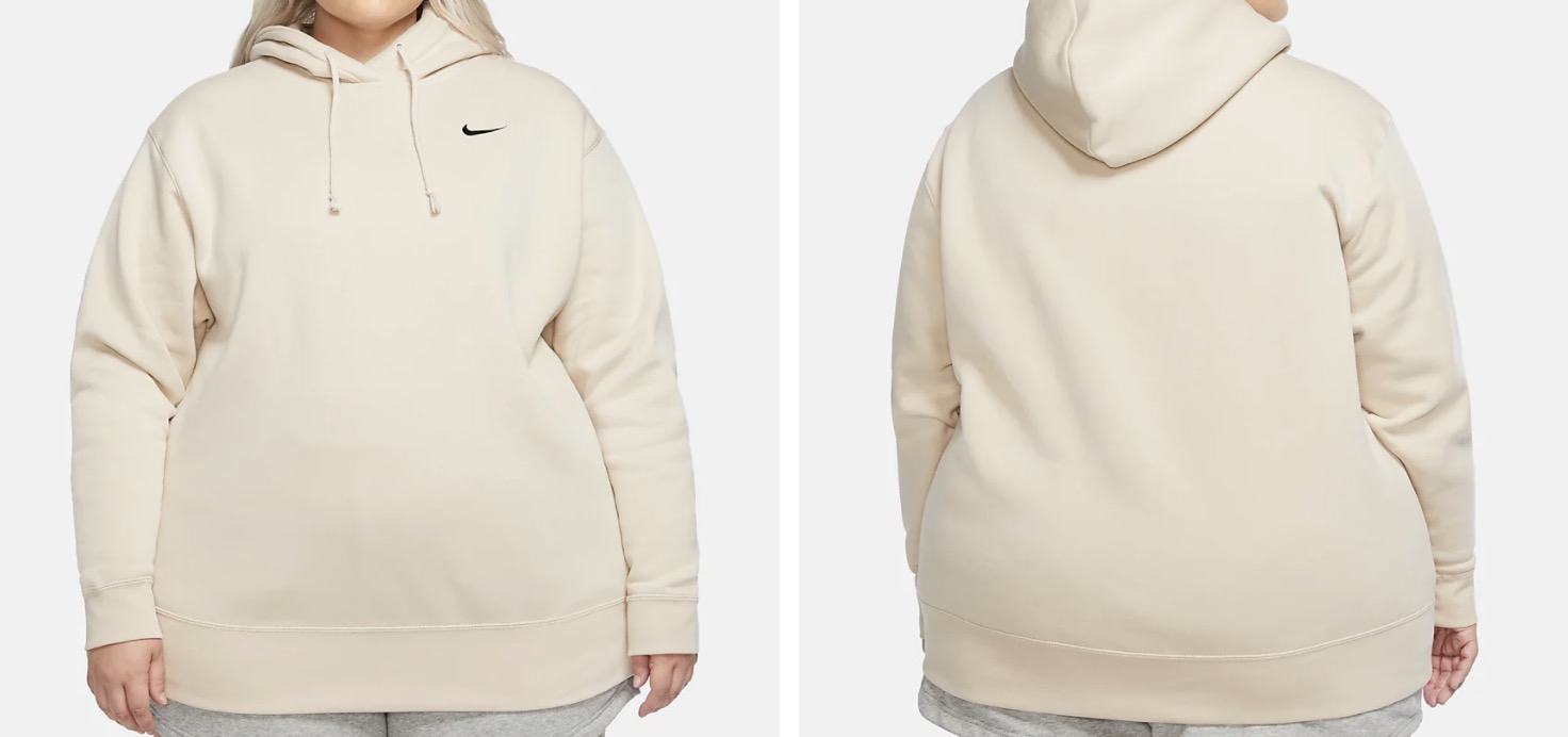 Nike Fleece Pullover (Plus) Cream