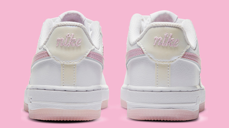 Nike Force 1 LV8 White Pink Floral Back