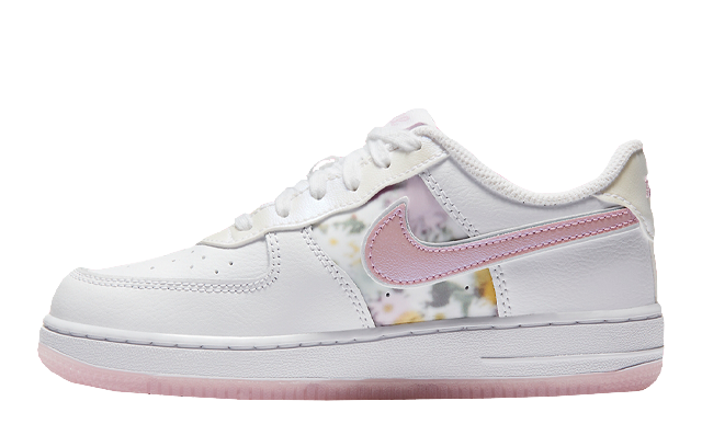 Nike Force 1 LV8 White Pink Floral