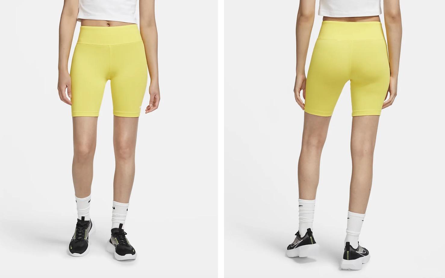 Nike Leg A See Bike Shorts Yellow