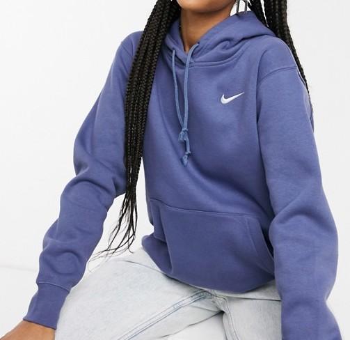 Nike Mini Swoosh Oversized Hoodie Navy