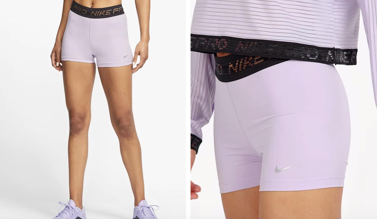 Nike Pro Shorts Lilac