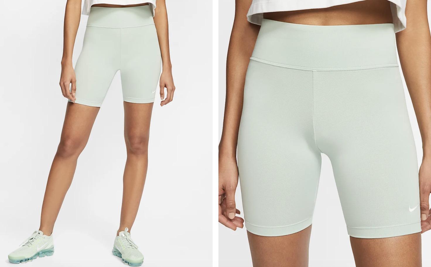 Nike Sportswear Leg A See Bike Shorts Pistachio Frost