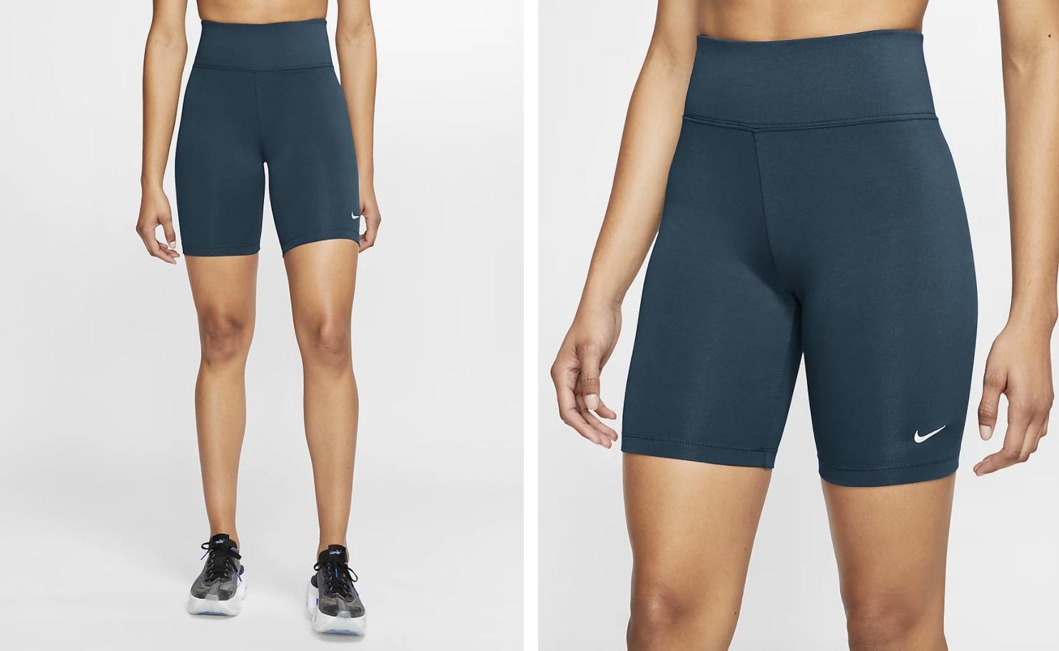 Nike Sportswear Leg A See Bike Shorts Teal