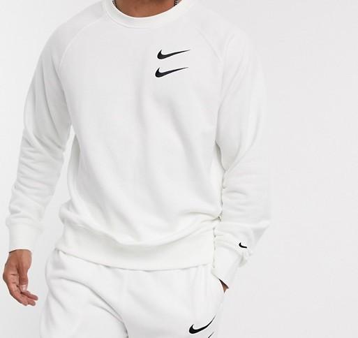 Nike Swoosh Logo Crew White