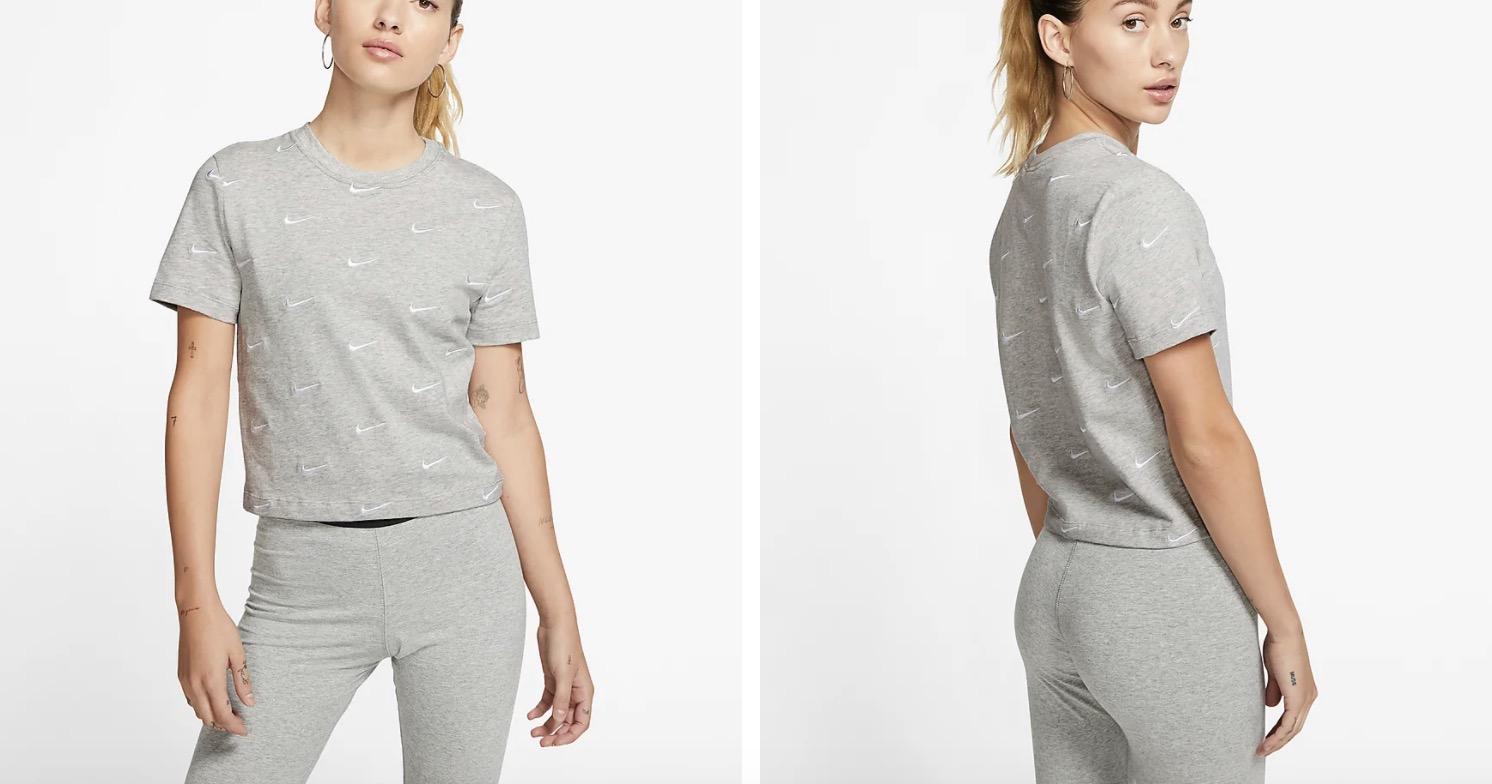 Nike Swoosh Logo T-Shirt Grey