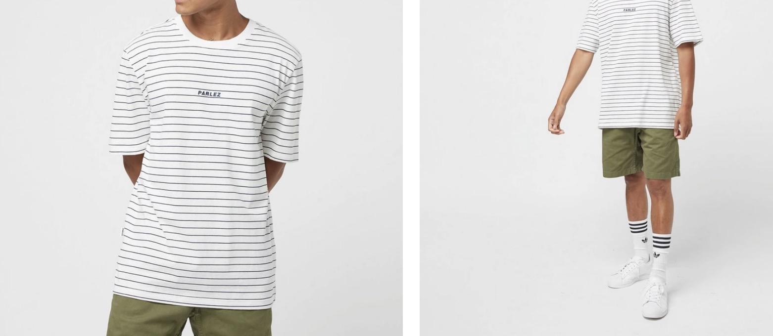 Parlez Stripe T-Shirt White