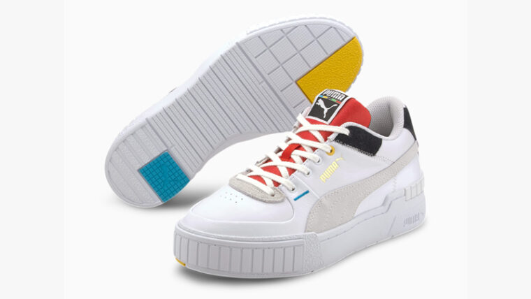 Puma Cali Sport Unity White Red Front thumbnail image