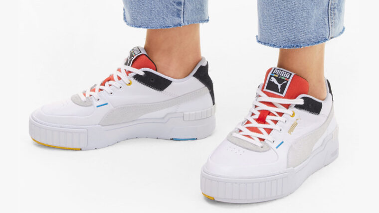 Puma Cali Sport Unity White Red On Foot thumbnail image