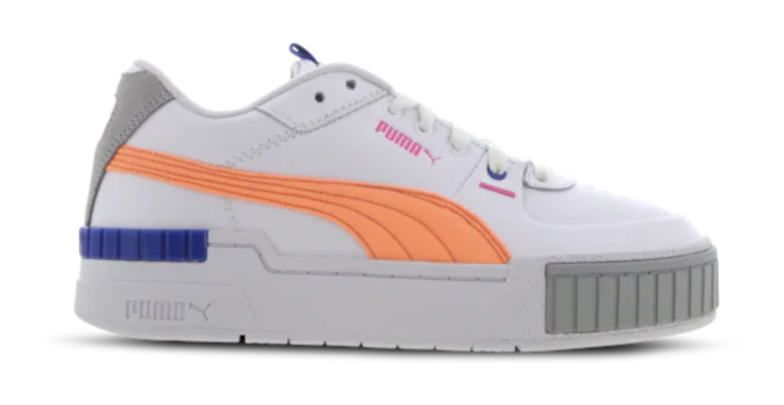 Puma Cali Sport White Fizzy Orange