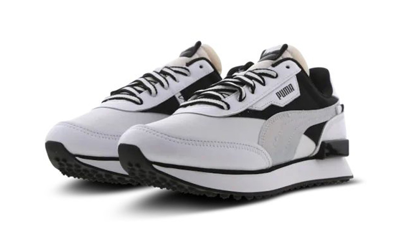Puma Future Rider White Black Front