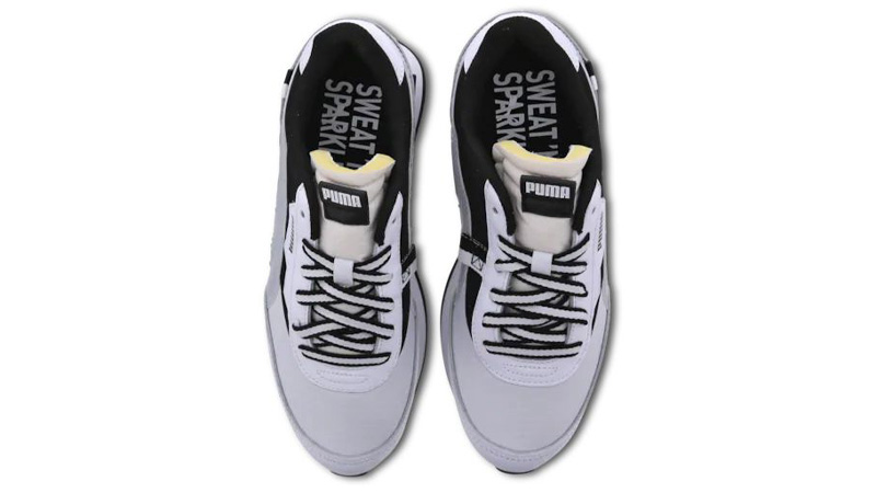 Puma Future Rider White Black MIddle
