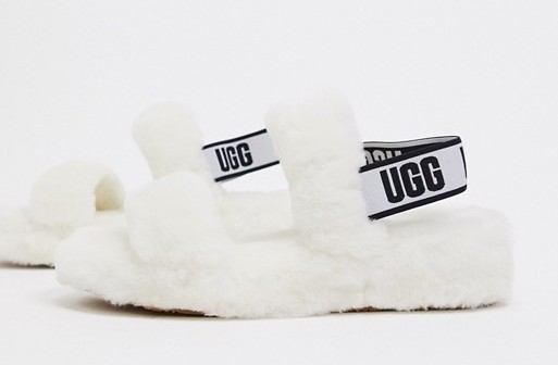 UGG Oh Yeah Slide Sandals White