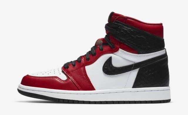 Womens Air Jordan 1 High OG Snake White Red Black