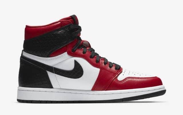Womens Air Jordan 1 High OG Snake White Red