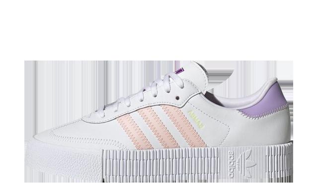 adidas sambarose White Pink