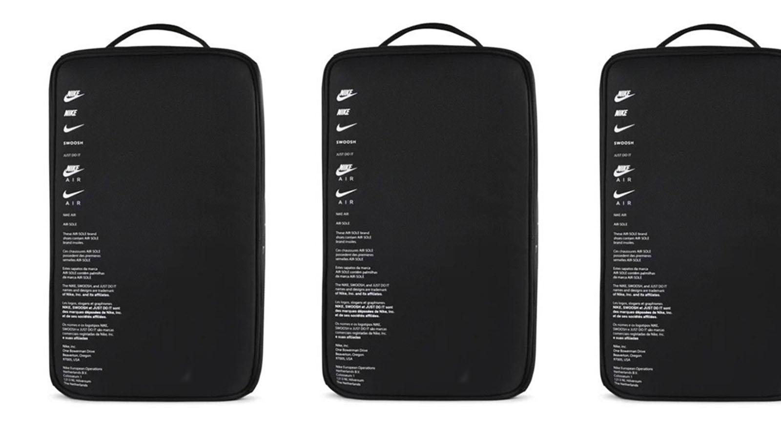 black nike shoebox bag