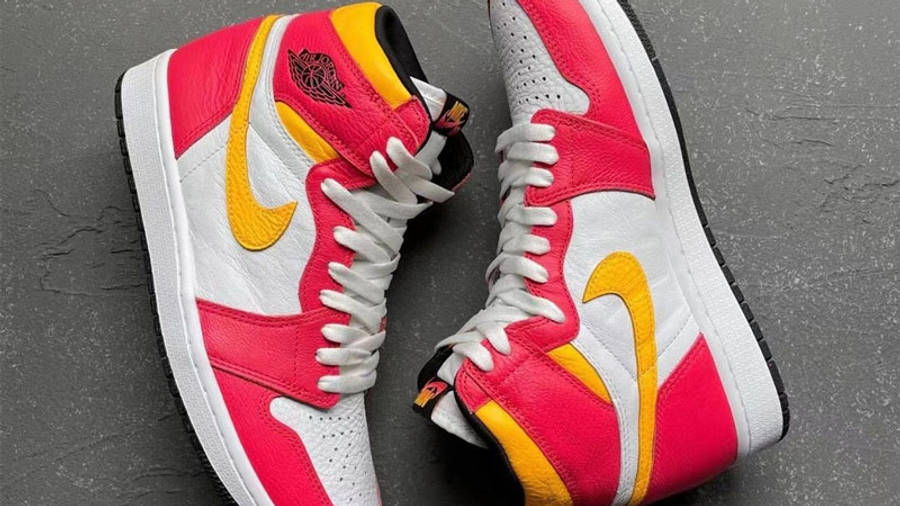 Jordan 1 High OG Light Fusion Red Yellow First Look Top