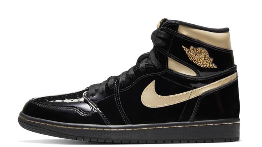 Jordan 1 High OG Patent Black Gold