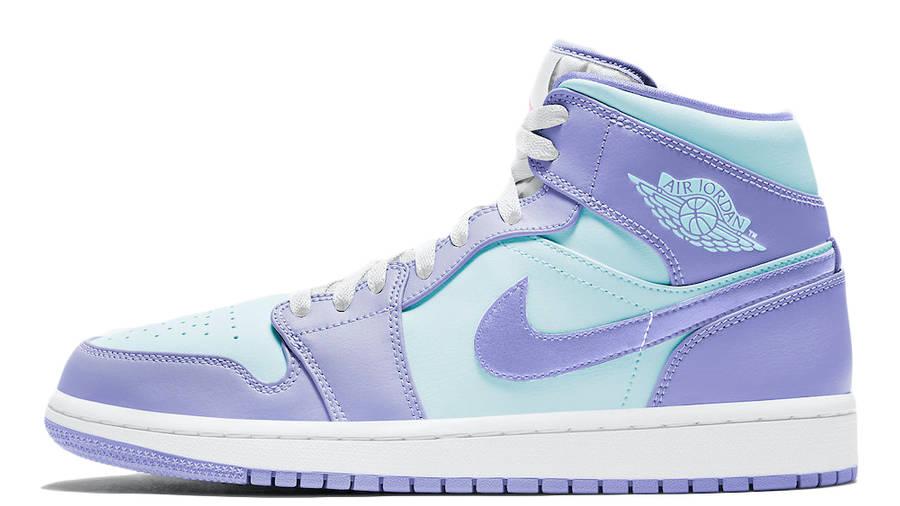 Jordan 1 Mid Purple Aqua Blue | Where To Buy | 554724-500 | Ietp