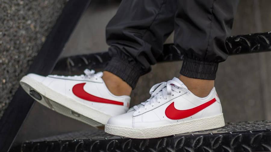 Nike Blazer Low GS White University Red | Where To Buy | CZ7106 ...