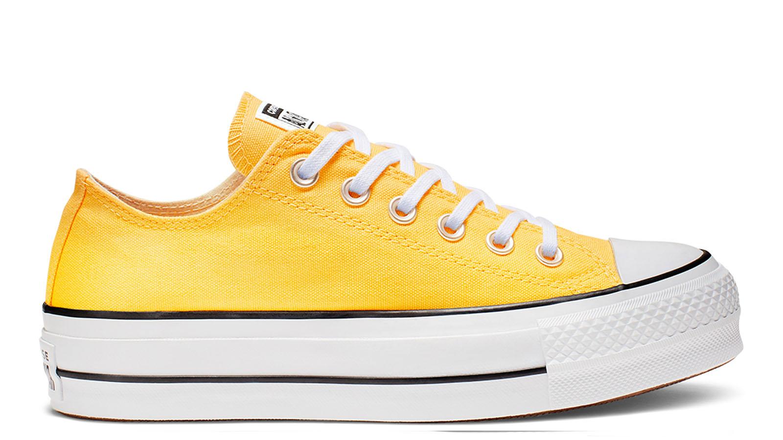 platform converse low yellow