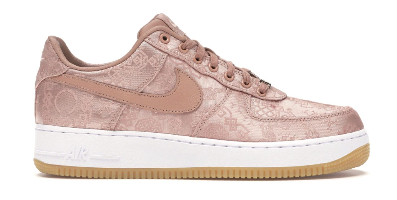 CLOT x Nike Air Force 1 Low Rose Gold Silk