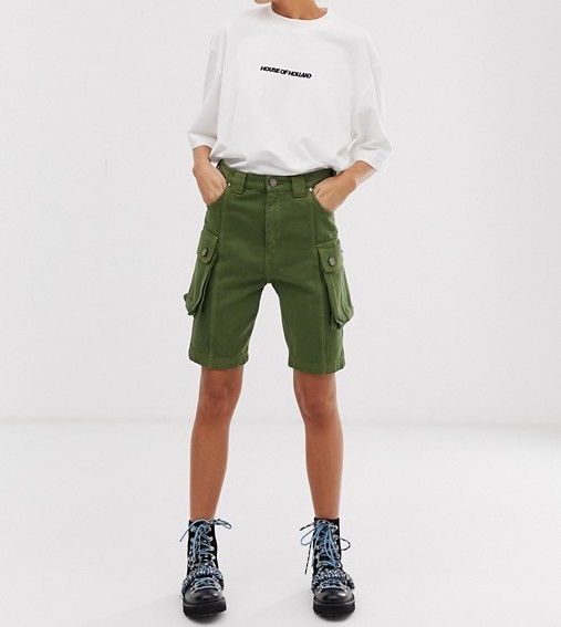 House of Holland Mid Length Shorts |