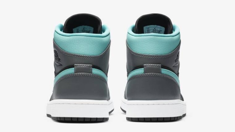 Jordan 1 Mid Grey Aqua Back thumbnail image