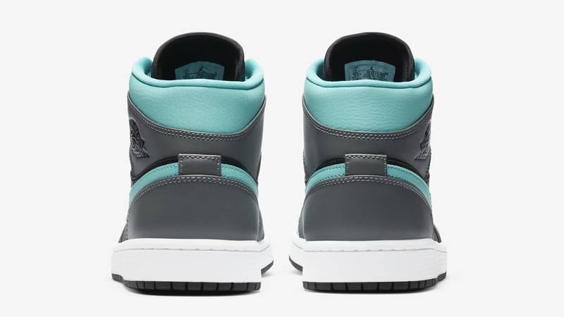Jordan 1 Mid Grey Aqua Back