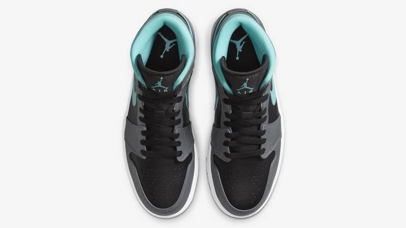 Jordan 1 Mid Grey Aqua Middle